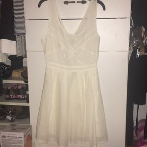 Formal white mini dress